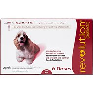 Revolution Topical Solution for Dogs, 20.1-40 lbs, 6 treatments