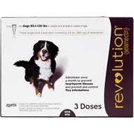 Revolution Topical Solution for Dogs, 86-130 lbs, 3 treatments