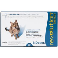 Revolution Topical Solution for Cats, 5.1-15 lbs, 6 treatments (Blue Box)