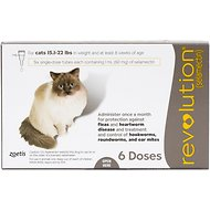 Revolution Topical Solution for Cats, 15.1-22 lbs, 6 treatments