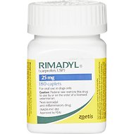 Rimadyl (Carprofen) Caplets for Dogs, 25-mg, 1 caplet