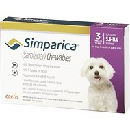 Simparica Chewable Tablets for Dogs, 5.6-11 lbs, 3 treatments