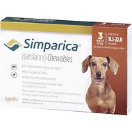 Simparica Chewable Tablets for Dogs, 11.1-22 lbs, 3 treatments