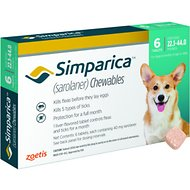 Simparica Chewable Tablets for Dogs, 22.1-44 lbs, 6 treatments