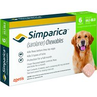 Simparica Chewable Tablets for Dogs, 44.1-88 lbs, 6 treatments