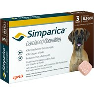 Simparica Chewable Tablets for Dogs, 88.1-132 lbs, 3 treatments