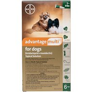 Advantage Multi Topical Solution for Dogs, 3-9 lbs, 6 treatments