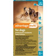 Advantage Multi Topical Solution for Dogs, 9.1-20 lbs, 6 treatments