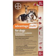 Advantage Multi Topical Solution for Dogs, 20.1-55 lbs, 6 treatments