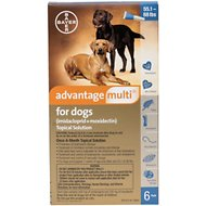 Advantage Multi Topical Solution for Dogs, 55.1-88 lbs, 6 treatments