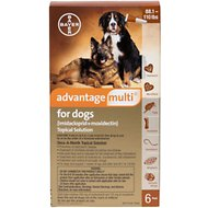 Advantage Multi Topical Solution for Dogs, 88.1-110 lbs, 6 treatments