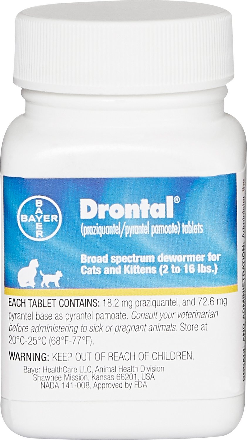 Drontal Tablets for Cats, 2-16 lbs, 1 tablet