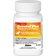 Drontal Plus Tablets for Dogs, 2-25 lbs, 1 tablet