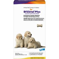 Drontal Plus Chewable Tablets for Dogs, 2-25 lbs, 1 tablet