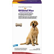 Drontal Plus Chewable Tablets for Dogs, over 45 lbs, 1 tablet