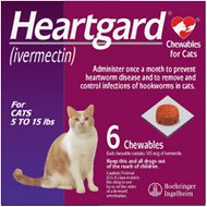 Heartgard Soft Chews for Cats, 5-15 lbs, (Purple Box)