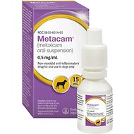 Metacam (Meloxicam) Oral Suspension for Dogs, 0.5 mg/mL, 15-mL