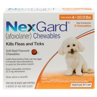 NexGard Chewable Tablets for Dogs, 4-10 lbs, 3 treatments
