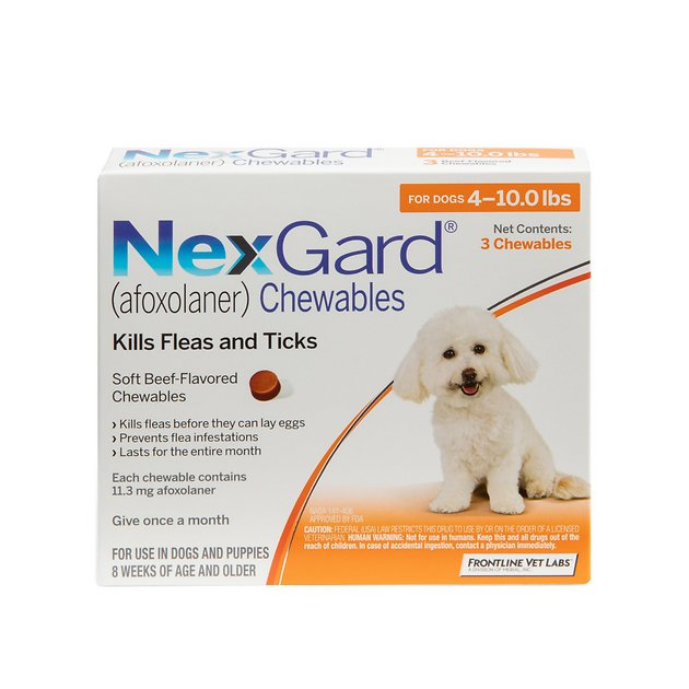 Nexgard Chewable Tablets For Dogs 4 10 Lbs 3 Treatments Chewycom
