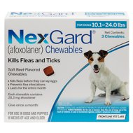 NexGard Chewables for Dogs, 10.1-24 lbs (Blue Box)