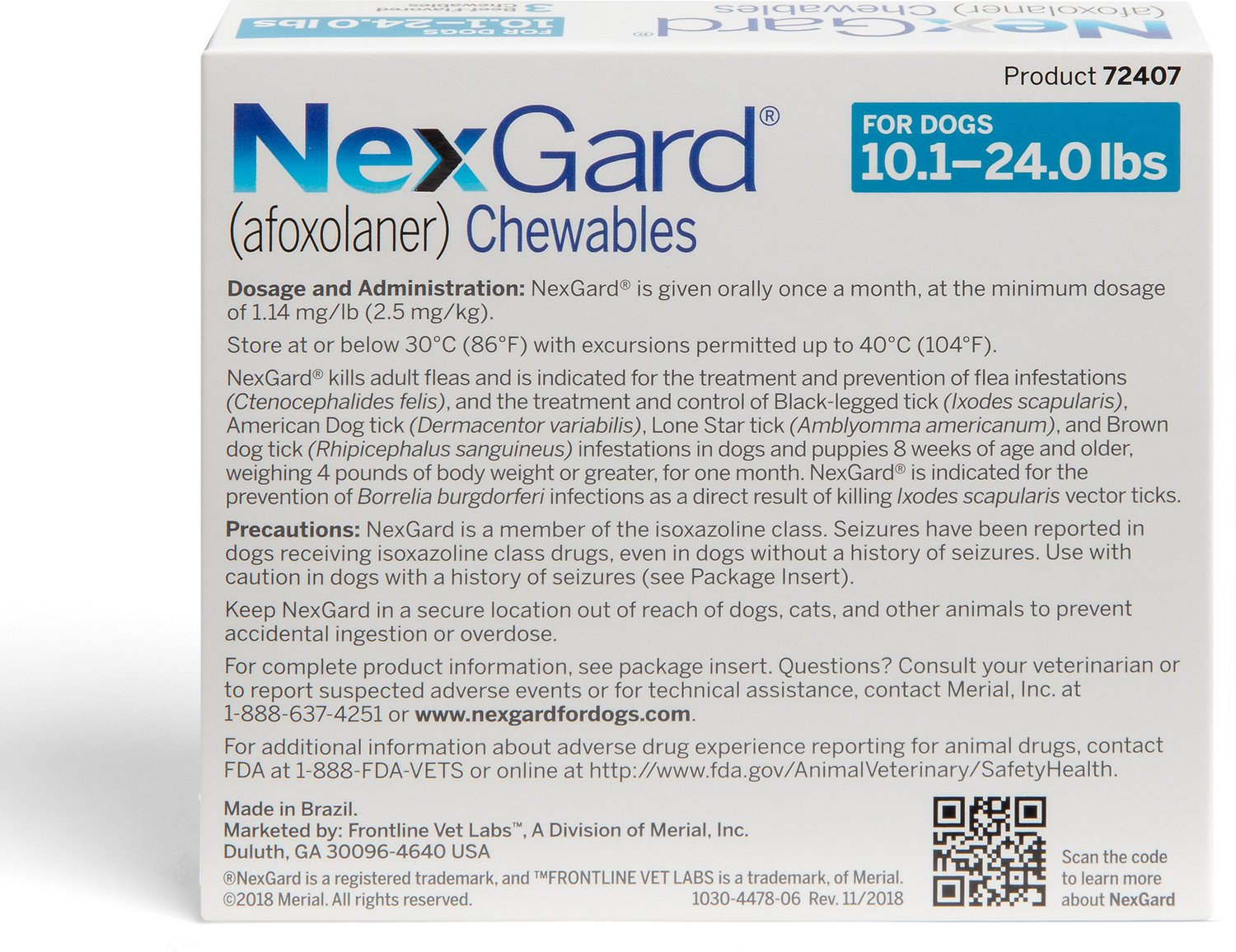 Nexgard Chewable Tablets For Dogs 10 1 24 Lbs 3