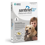 Sentinel Flavor Tablets for Dogs, 51-100 lbs, 6 treatments (White Box)