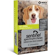 Sentinel Spectrum Chewable Tablets for Dogs, 8.1-25 lbs, 6 treatments