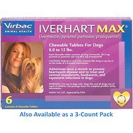 Iverhart Max Chewable Tablets for Dogs, 6-12 lbs, 6 treatments