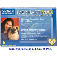 Iverhart Max Chewable Tablets for Dogs, 12.1-25 lbs, 6 treatments