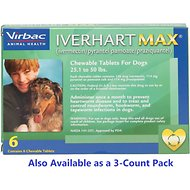 Iverhart Max Chewable Tablets for Dogs, 25.1-50 lbs, 6 treatments