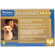 Iverhart Max Chewable Tablets for Dogs, 50.1-100 lbs, 6 treatments