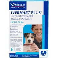 Iverhart Plus Chewable Tablets for Dogs, 1-25 lbs, 6 treatments