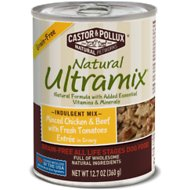 Castor & Pollux Natural Ultramix Grain-Free Minced Chicken & Beef with Fresh Tomatoes Entrée in Gravy Canned Dog Food, 12.7-oz, case of 12