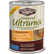 Castor & Pollux Natural Ultramix Grain-Free Whole Chicken Thigh, Fresh Cut Carrots & Sweet Potatoes Entrée in Gravy Canned Dog Food, 12.7-oz, case of 12
