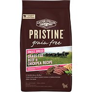 Castor & Pollux PRISTINE Grain-Free Small Breed Grass-Fed Beef & Chickpea Recipe Dry Dog Food, 4-lb bag