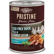 Castor & Pollux PRISTINE Grain-Free Cage-Free Duck, Pea & Carrot Stew Canned Dog Food, 12.7 oz, case of 12