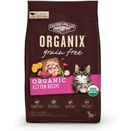 Castor & Pollux Organix Grain-Free Organic Kitten Recipe Dry Cat Food, 3-lb bag