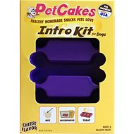 PetCakes Intro Kit Cheese Flavor Microwavable Mix With Bone Shaped Pan Dog Treats, 4.5-oz box