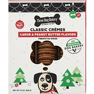 Three Dog Bakery Classic Cremes Carob & Peanut Butter Cookies Dog Treats, 13-oz box
