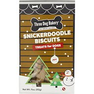 Three Dog Bakery Snickerdoodle Mini Biscuit Dog Treats, 11-oz box