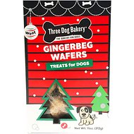 Three Dog Bakery Gingerbeg Wafers Dog Treats, 11-oz box