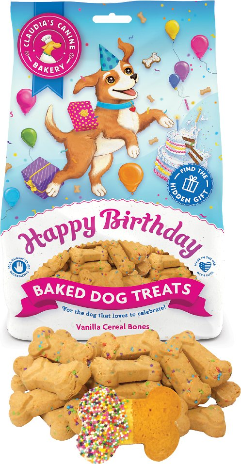 Remarkable Claudias Canine Bakery Happy Birthday Vanilla Cereal Bone Baked Birthday Cards Printable Giouspongecafe Filternl