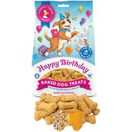 Claudia's Canine Bakery Happy Birthday Vanilla Cereal Bone Baked Dog Treats, 8-oz bag