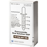 Furosemide (Generic) Oral Solution for Dogs, 10 mg/mL, 60-cc