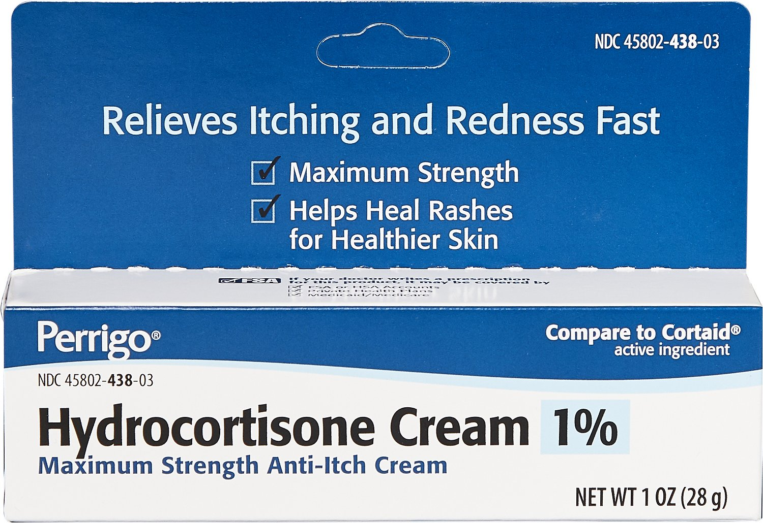 Hydrocortisone (Generic) Cream 1% for Dogs & Cats, 1-oz
