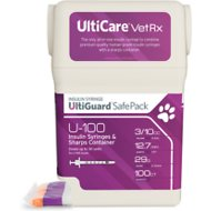 UltiCare UltiGuard Safe Pack Insulin Syringes U-100 29 Gauge x 0.5-in
