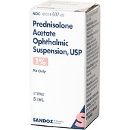 Prednisolone Acetate (Generic) Ophthalmic Suspension 1%, 5-mL