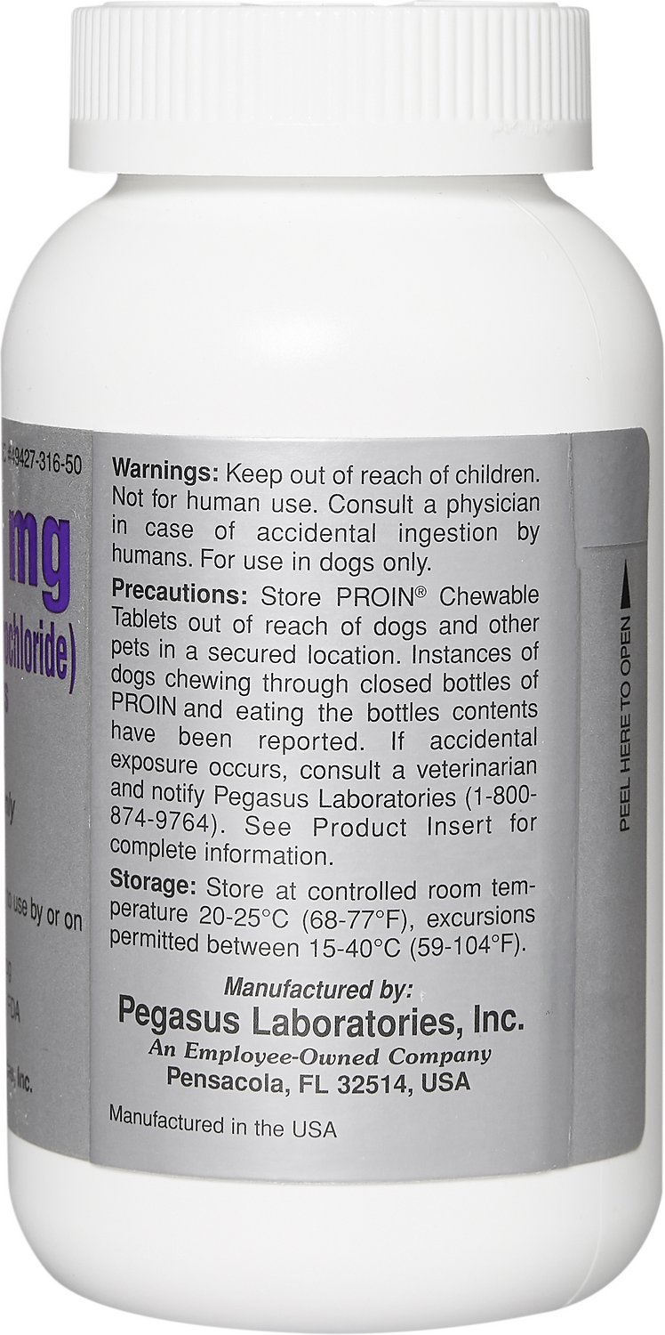 Proin Chewable Tablets For Dogs 75 Mg 1 Tablet Chewy Com