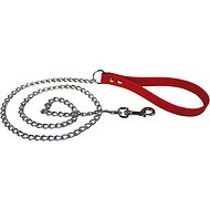 OmniPet Chain Dog Leash, Red, Heavyweight, 4-ft
