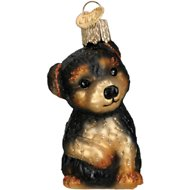 Old World Christmas Yorkie Puppy Glass Tree Ornament, 2.75-in